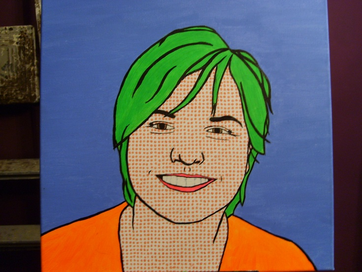 Omdat het wat narcisistisch werd, een pop-artje van mijn zus (en ja: we lijken in real life ook niet op elkaar!)