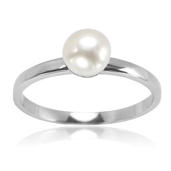 Prześliczny srebrny pierścionek z perłą naturalną - Biżuteria srebrna dla każdego tania w sklepie internetowym Silvea