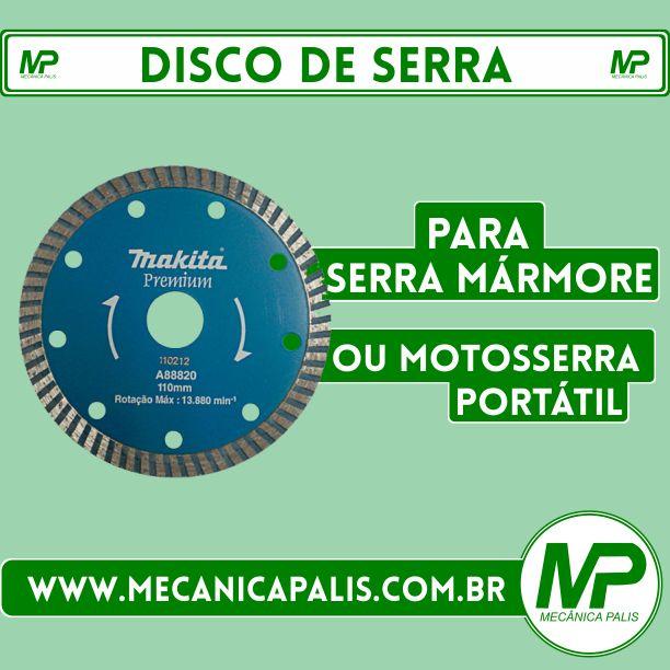 Disco de Serra, para Serra Mármore, ou Motosserra Portátil. Confira esse e outros produtos em nosso site! Acesse já: www.mecanicapalis.com.br