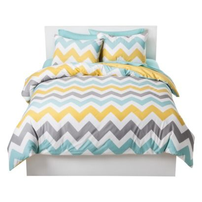 Room Essentials® Chevron Duvet Cover Set (Target) (What a fun pattern/colors! This doesn't fit our decor, though.)