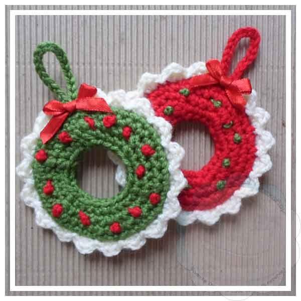 Creative Crochet Workshop: Christmas Wreath Tree Ornament DIY Decor Crafts Idea