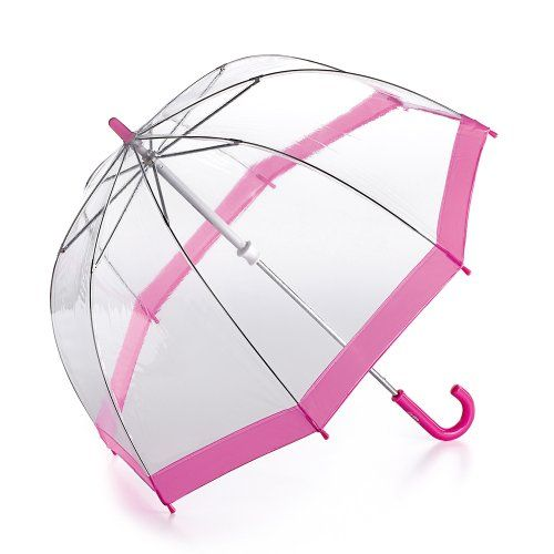 From 11.00:Fulton Funbrella Birdcage Kids Umbrella Pink Trim
