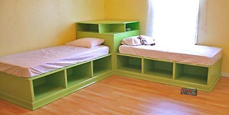 twin platform beds: Decor, Ideas, Corner Beds, Boys Rooms, Bunk Bed, Twin Beds, Storage Beds, Girls Rooms, Kids Rooms