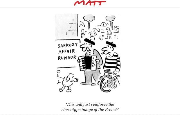 Matt cartoon; March 2010 - Sarkozy affair rumour