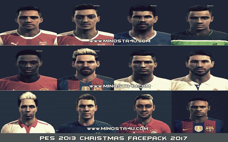 Gói Facepack christmas 2017 update khuôn mặt cầu thủ trong PES 2013. Gói Facepack christmas 2017 này được tạo bởi HFT , RGS , BLUE trong nhóm Minosta4u Team