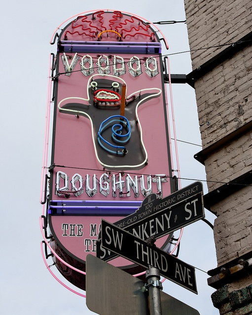 Voodoo Donuts in Portland, OR - it IS as good as you have heard! Worth the wait in a long line!