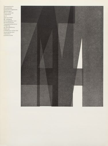 typographic monatsblatter Cover from 1967 issue 4