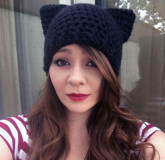 Mejores 9 imágenes de Crochet Cat Hat en Pinterest | Gorras ...