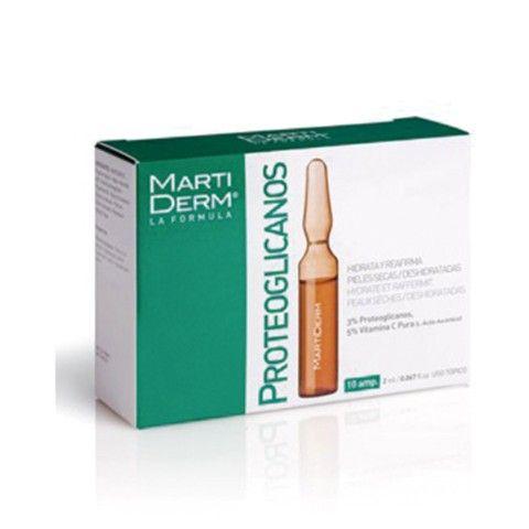 Martiderm Proteoglicanos Hidratante y Reafirmante Piel Normal y Seca, 10 ampollas.