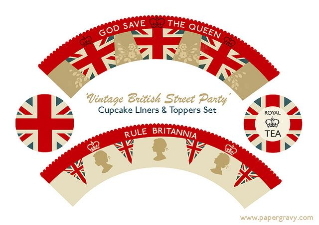 free british printables | Printable Jubilee British cupcake wrappers liners and toppers | Flickr ...
