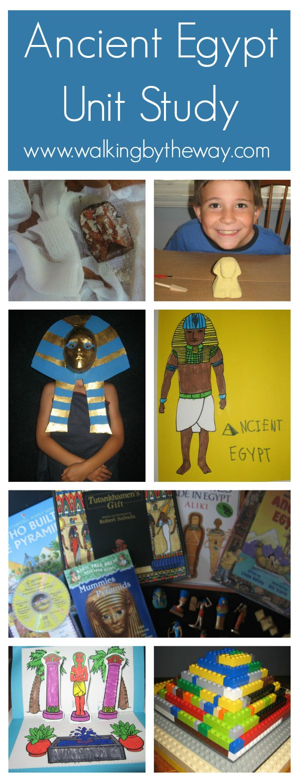 Ancient Egypt Unit Study from Walking by the Way (see some interest-led learning in action!)