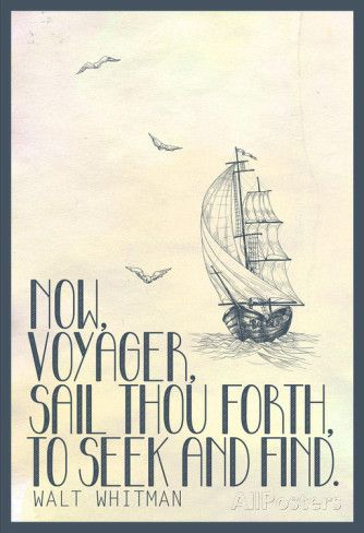 Walt Whitman Now Voyager Posters at AllPosters.com
