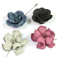 Upscale Men's Stereo Rose Flower Lapel Pins Brooches For Men ...