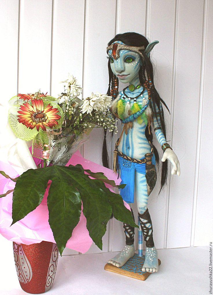 Купить Кукла текстильная интерьерная. Аватарка - голубой, кукла интерьерная, кукла текстильная