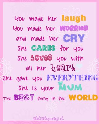 cute quotes to mom