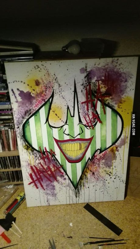 """Just finished this painting. """"HAHA"""""""