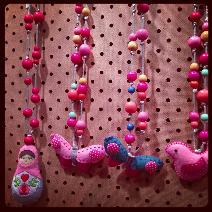 Rare rabbit's new necklaces - very cute & the elves are pleased to report there's some on the way!