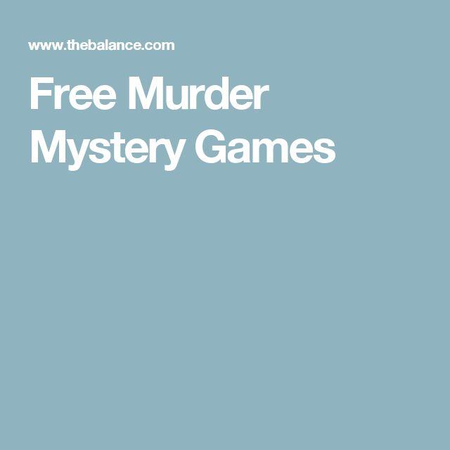 Free Murder Mystery Games