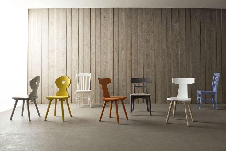 Collezione sedie di Scandola Mobili. / Chairs collection by Scandola Mobili.  #Scandola #complementi #accessories