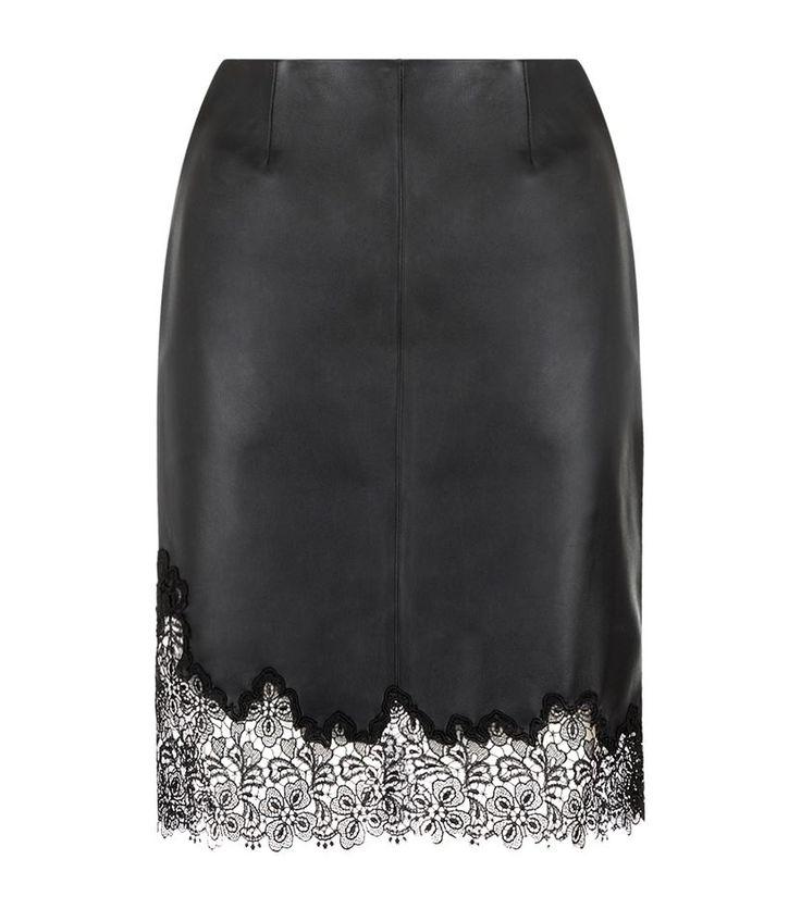 Кожаная юбка Рейсс Лана кружевной отделкой | Harrods