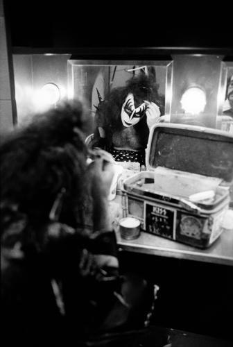 vintage Gene backstage before the concert