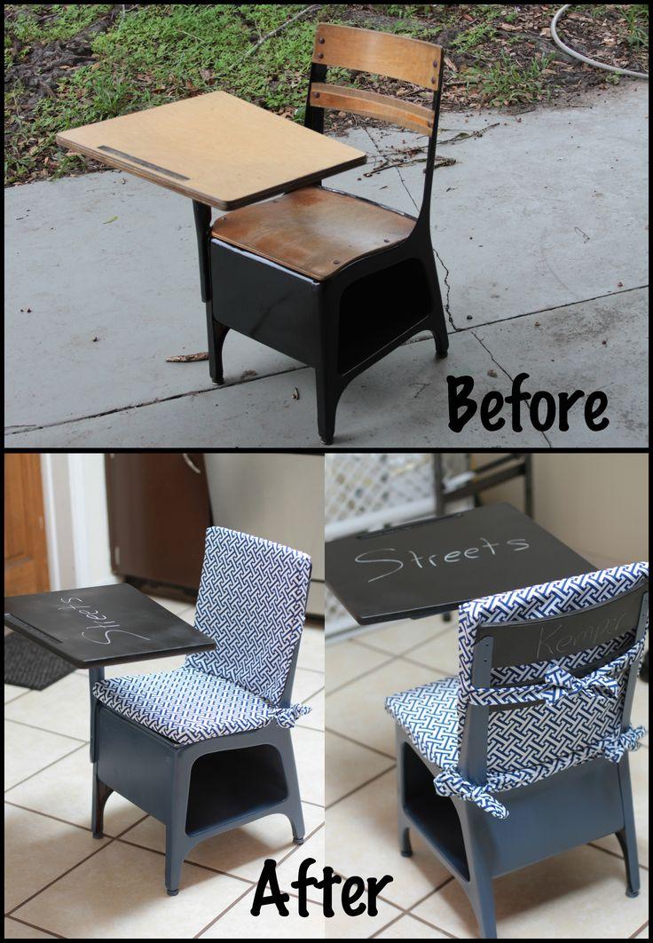 Old School Desk Restoration Stuff I Ve Done Pinterest