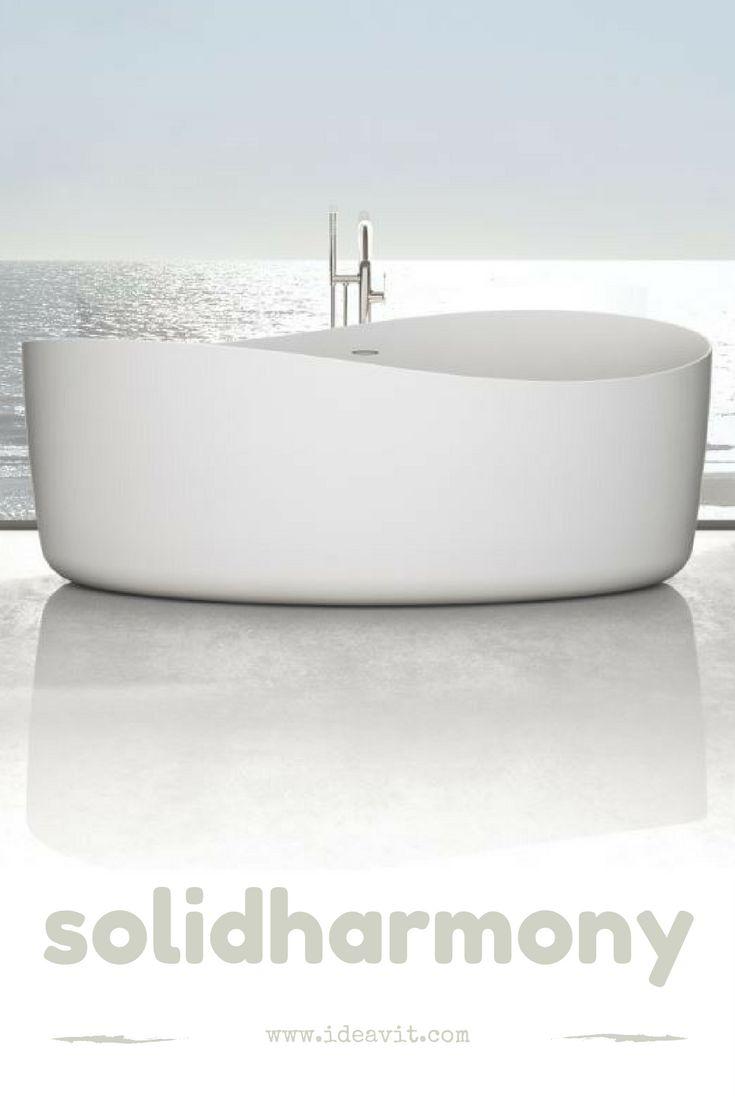 The New Solidharmony Bathtub designed By Markus Kurkowski www.ideavit.com