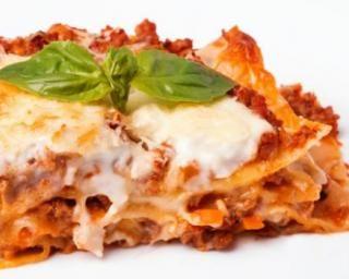 Lasagnes allégées au boeuf et parmesan
