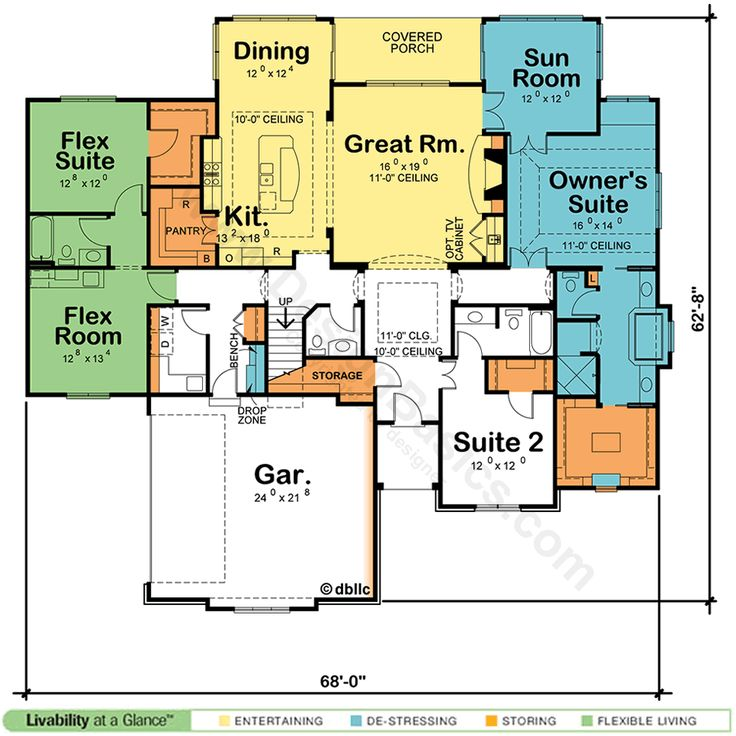 home plans with two master suites one floor   House Plans with Two Master  Suites. Best 25  One floor house plans ideas on Pinterest   House plans