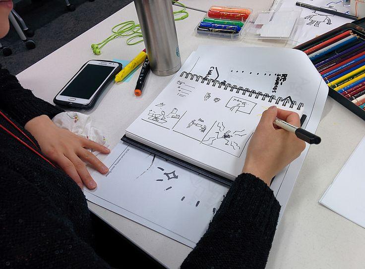 비주얼스토밍 실습 - 아이디어나 비즈니스 컨셉을 4-cut, 6-cut의 장면으로 나누어 그려보기