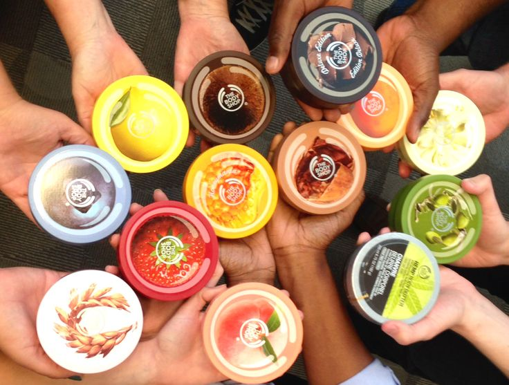 The body shop Body Butter! Our icon product. Many of these half price one week left.