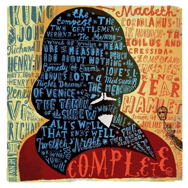 Complete Works of Shakespeare print - a must-have for the office or reading nook.