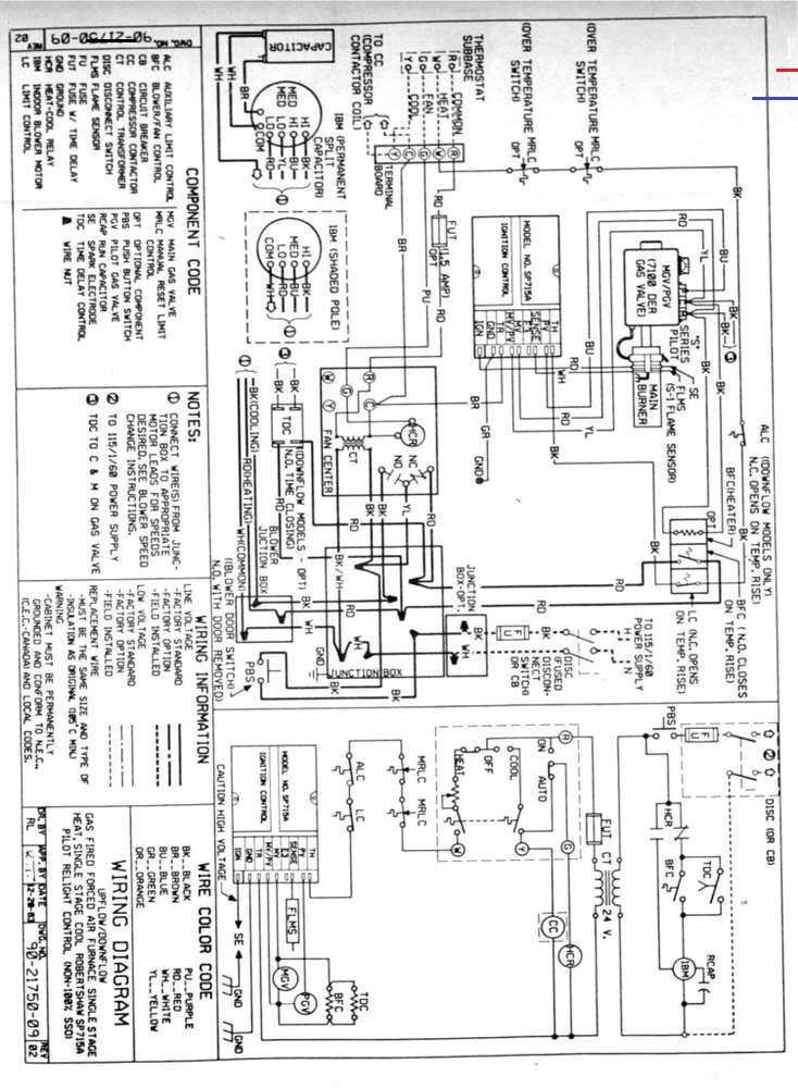 Gas Furnace Thermostat Wiring Diagram Logicboard In 2020