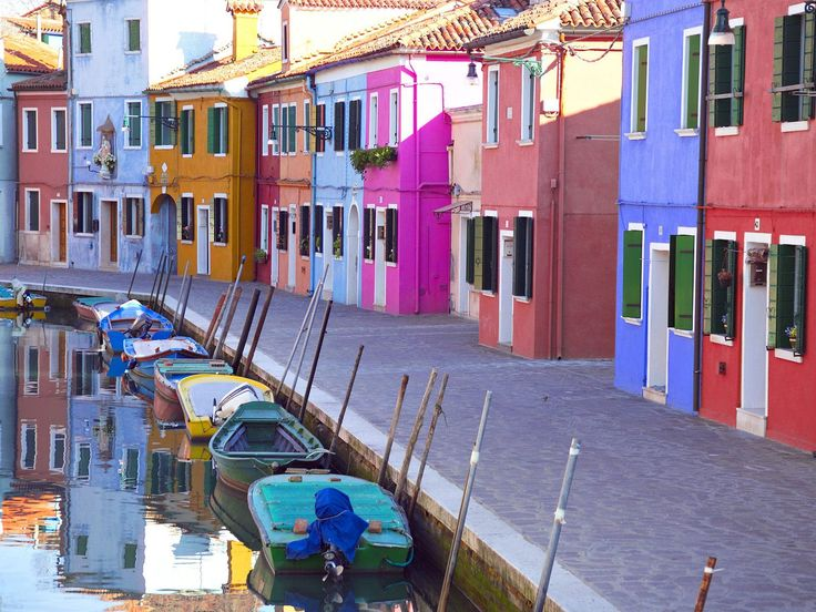 Barano, Italy...one of my most favorite islands near Venice.  We went there by boat and it's just this colorful.