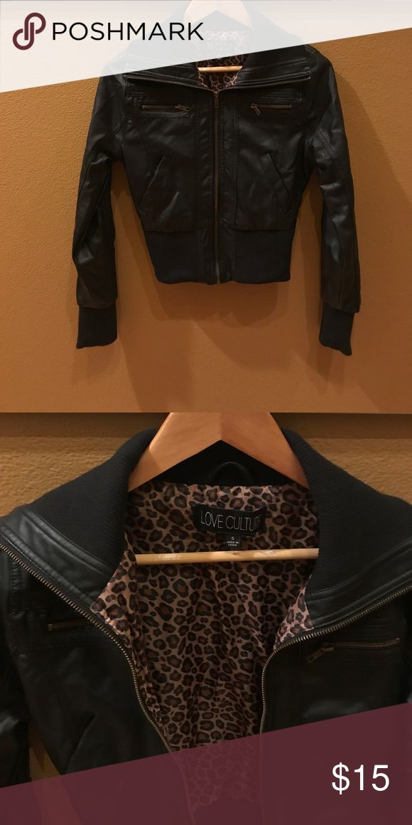Faux leather Bomber jacket size small Faux leather Bomber jacket size small. Bought at the love culture store. Worn about 8-10 times. In great condition. Perfect for Fall. Jackets & Coats