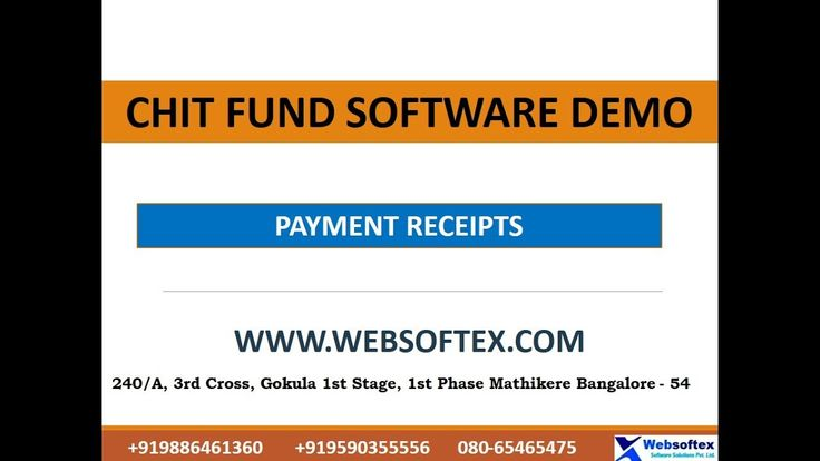 Payment Receipts Chit Fund Software Demo In English