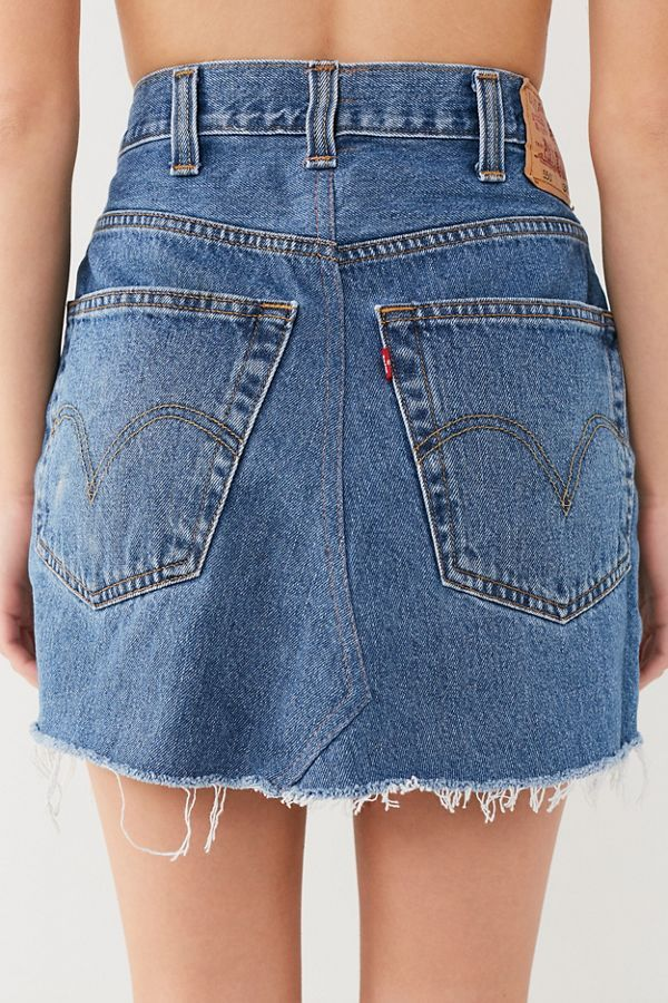 981d27d516 Urban Renewal Remade Levi's Notched Denim Mini Skirt | Urban Outfitters
