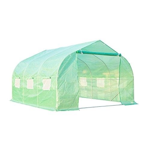 Outsunny 12' x 10' x 7' Portable Walk-In Garden Greenhouse - Deep Green | Jet.com