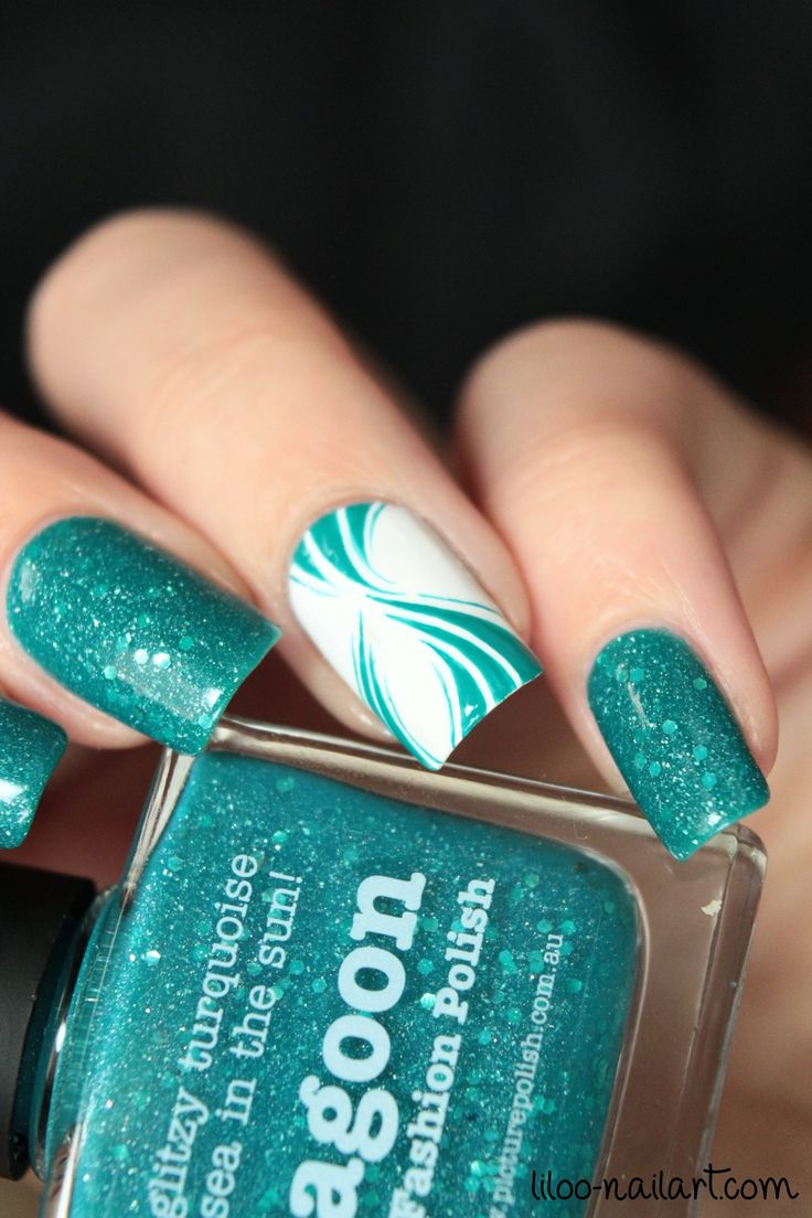 lagoon picture polish liloo nail art - Best 25+ Turquoise Nail Art Ideas On Pinterest Turquoise Nail
