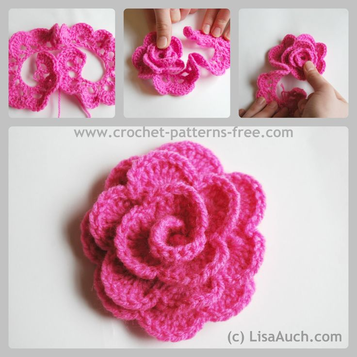 Free Crochet Patterns Flowers Easy : 25+ best ideas about Crochet flower patterns on Pinterest ...
