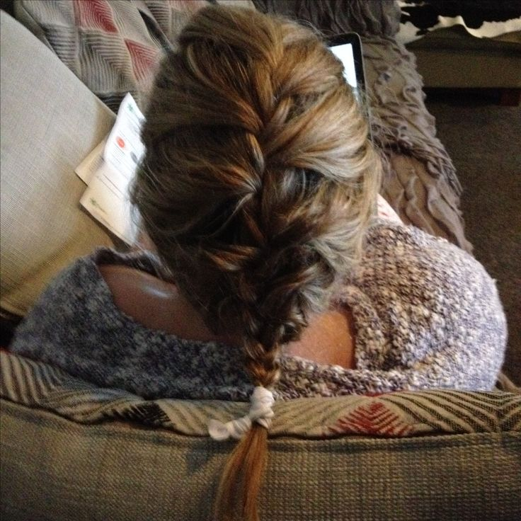 Perfect messy French braid 😍
