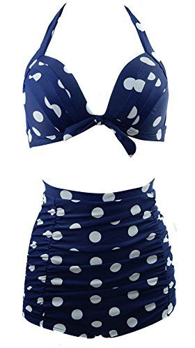 Cocoship Navy Blue and White Polka Vintage High Waisted Bikini Swimwear L(FBA) COCOSHIP http://www.amazon.com/dp/B00KX0LNEY/ref=cm_sw_r_pi_dp_z79Eub1TY869N
