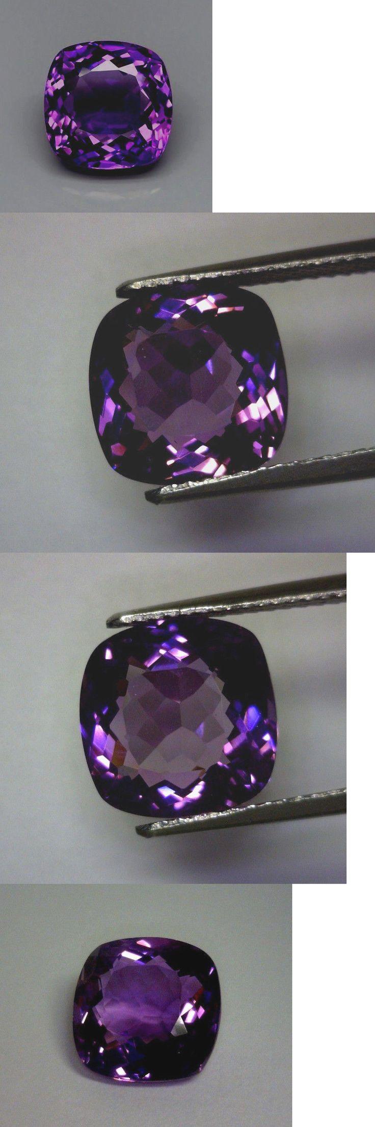 Amethyst 10192: 7.72 Ct Natural Cushion Cut Amethyst, Rich Purple, Vs, Uruguay -> BUY IT NOW ONLY: $93.5 on eBay!