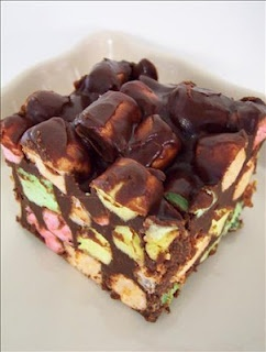Chocolate, Peanut Butter, Marshmallow Squares
