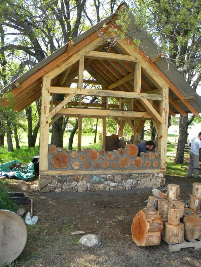 212 best images about studio holiday home on pinterest for Cordwood building plans