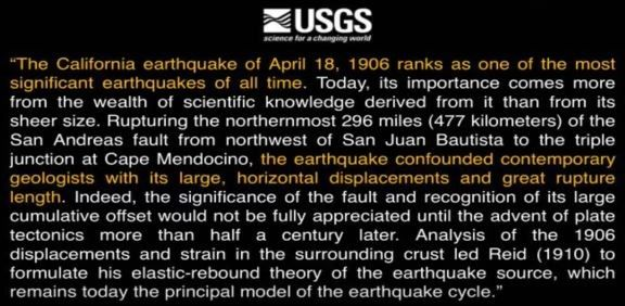 1st Trumpet--1906 earthquake report