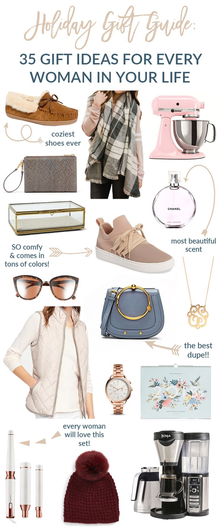 Popular fashion and lifestyle Utah blogger Sandy a la Mode shows 35 ideas in a holiday gift guide for every woman in your life!