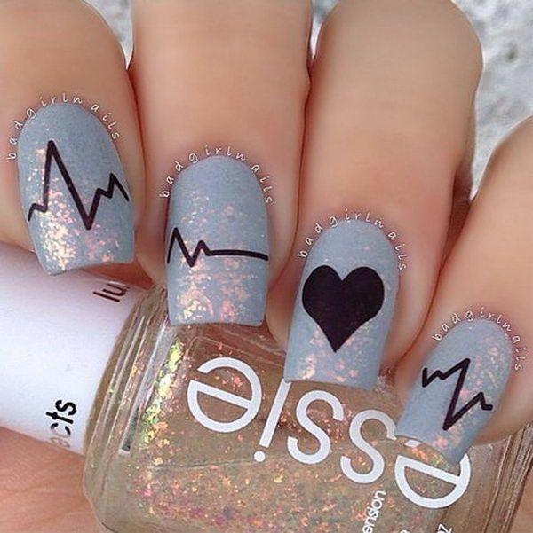 4 romantic valentine nail designs http://hative.com/romantic-valentine-nail-designs/