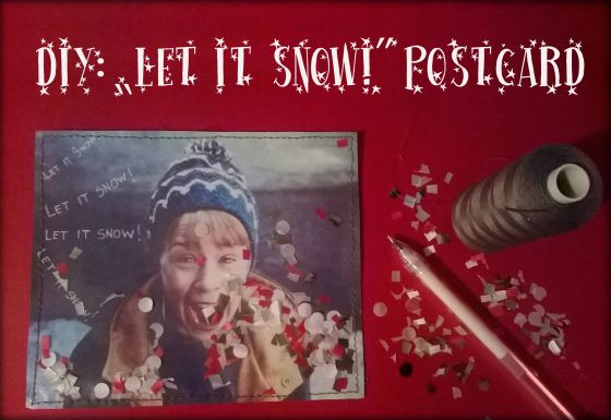 "DIY: ""Let it snow!"" postcard"