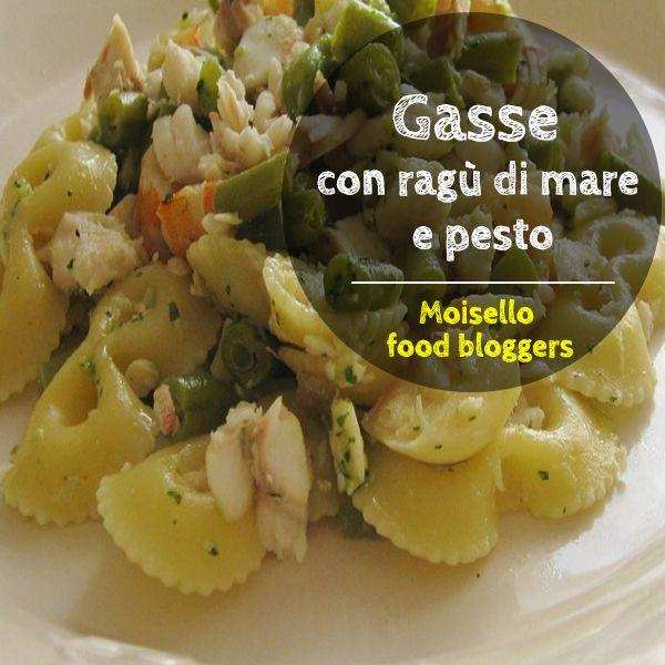 Un piatto dal sapore tutto ligure: Gasse con ragu' di mare profumate al pesto. Ecco la nuova ricetta di Maria Grazia. Scopri di piu' su http://moisello.com/blog/ #moisellobloggers